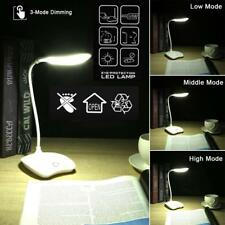 14 LED Desk Lamps 6000k USB Charging Reading Light 3 Mode Flexible Table Lamp