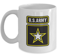 VETERAN coffee mug - U.S. Army sign - unique military combat patriotic cup gift