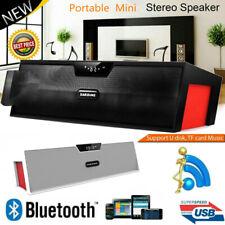 Wireless Bluetooth Speaker FM Radio Stereo Super Bass FM MP3 Player USB Alarm US