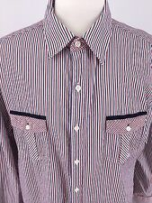 ENGLISH LAUNDRY XXL Mens White, Blue, & Red Long Sleeve Button Front I-97