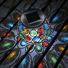 Auraglow Mosaic Solar Light Table Centerpiece LED Garden Alfresco Dining Lamp