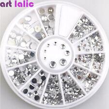 1Pc 3D Rhinestones Silver Glitter Diamond Gem Tips DIY Nail Art Decoration Wheel