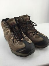 Coleman Men 10.5 M Shoe Boots Hiking Casual Leather Laces Brown Black Wedge