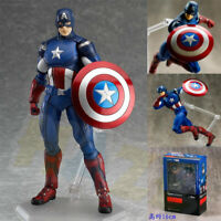 "The Avengers Captain America Figma PVC Figure Toy Movable 6"" In Box Collection"