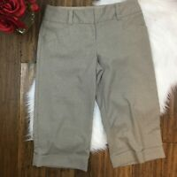 "The Limited Women's Brown ""Cassidy Fit"" Cropped Dress Work Pants Size 8"