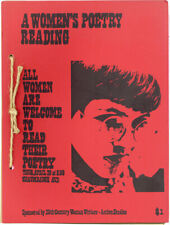 Iowa City Women's Press Collective POETRY READING Anthology ca 1973 Feminist Lit