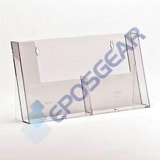 5 A5 Dual Bay Freestanding Counter Leaflet Menu Brochure Holder Stand Display