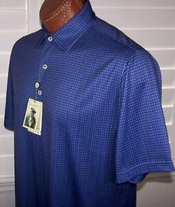 DONALD ROSS Golf s/s moisture WICKING polo Shirt Sz M NAVY-CREAM
