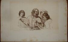 R. Dalton Guercino Lezione di Canto Singer old print stampa antica 1818 gravure