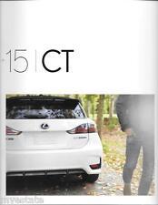 2015 15  Lexus CT  original sales brochure