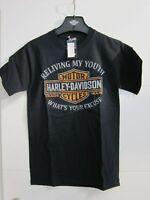 Harley-Davidson Dealer Shirt schwarz loose Fit Gr. M Herren/Damen Gr. L NEU