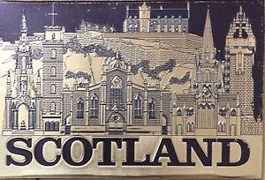 Scottish Fridge Magnet Scotland Landmarks Edinburgh Castle Scene Gift Souvenir
