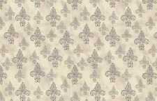 David Textiles French Couture WA 3541 4C 1 Fleur de Lis on Cream  Cotton Fabric