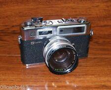 Vintage G Yashica Black/Silver GSN Electro 35mm Film Camera w/ Strap & Lens