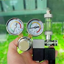 Aquarium CO2 Regulator W/ Magnetic Solenoid Valve Dual Two Gauge Bubble Counter