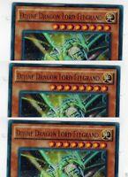 Divine Dragon Lord Felgrand SR02-EN001 1st  X 3 Mint  YUGIOH Ultra