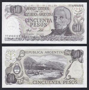 Argentina 50 pesos 1974 (75) FDS/UNC  A-06