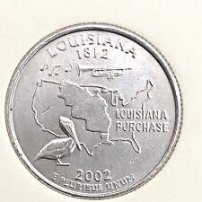 US State Commemorative Quarter Dollar Series,2002-P LOUISIANA 1812 Ex-Fine+