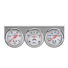 2' 52mm Water Temperature Amp Meter Oil Pressure Triple Gauge 3in1 Kit Chrome
