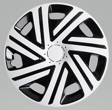 """Adornos de 14"""" Ruedas Para Vauxhall Corsa negro/blanco 4x14''"""