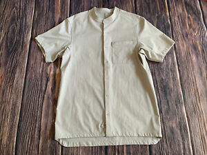 Lululemon Daily Drift Short Sleeve Collarless Shirt Performance Shirt Sz Medium