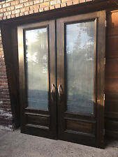 Two 8' Door's Made of Mahogany from Bolivia vintage exterior or interior doors
