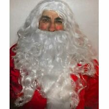 Santa White Wig and Beard Set Christmas Accessory Adult Size Budget Quality