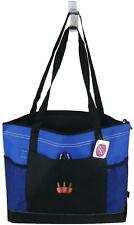 Nail Polish Monogram Bag Blue Gemline Zipper Tote Salon Tech Beauty School Gift