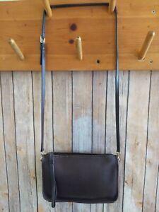 VINTAGE COACH Brown Basic Cashin Clutch Crossbody Bag 9455