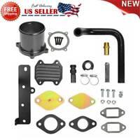 EGR Cooler & Throttle Valve Delete Kit 6.7L Cummins Diesel For 2013-18 Dodge Ram