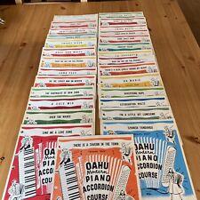 Lot Of 28 VINTAGE 1950 OAHU Modern Piano ACCORDION COurse Sheet Music