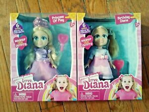 "LOVE DIANA Mashups PRINCESS & BIRTHDAY 6"" Doll & Brush PocketWatch ~ NEW 2020"