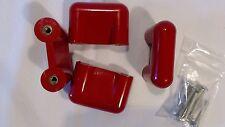 Original Vintage CON&CON 4x Türgriffe Rot 70er 80iger Retro Schubladengriffe