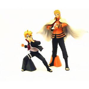 2 Pcs Anime Naruto Shippuden & Boruto Figurine Statues Action Figures Set