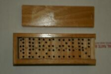 Domino Set Wooden  Top Case Box Game 28PC