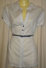 Barkins Blouse Fitted Shirt White Corporate Office Wear Ladies size 12