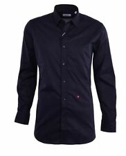 bee2f6f6 MOSCHINO Black Long Sleeve Cotton Button Down Dress Shirt Mens Small 15  (38) NEW