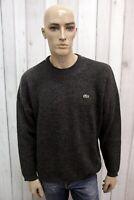 LACOSTE Maglione Grigio Uomo Taglia 7 - 2XL Lana Casual Pull Pullover Sweater