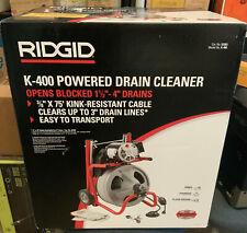 New Ridgid 52363 K 400 115v Drum Machine C 31 38 Integral Drain Cable Snake Hd