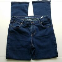 Old Navy Rockstar Bootcut Jeans Womens Size 14 Blue Dark Wash Mid Rise Stretch