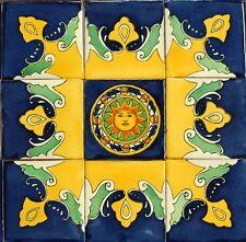 9 Mexican Talavera Tiles Ceramic Tiles Hand Made # M12