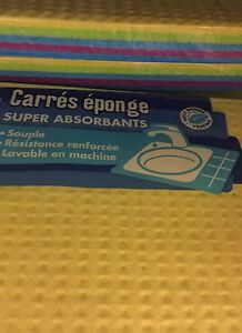 Lot revendeur destockage De 40 Carré Éponge Super Absorbant