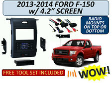 "2013-2014 FORD F-150 w/ 4.2"" Screen TURBO TOUCH SINGLE/DOUBLE DIN DASH BEZEL KIT"