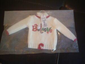 "Christopher & Banks ""Believe"" Sweater Ornament – NIP"