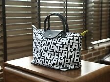 Longchamp Le Pliage LGP Tote Handbag Large Authentic From France - White