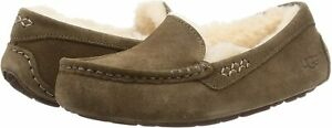 Women's Shoes UGG ANSLEY Suede Moccasin Slippers 1106878 HICKORY / SAND