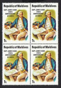 JAMES COOK CAPTAIN (1728-1779) = BRITISH EXPLORER = Block of 4 MNH
