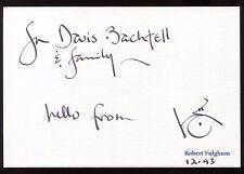 "Robert Fulghum Signed Card Autographed Famous ""Kindergarten"" Book Author"