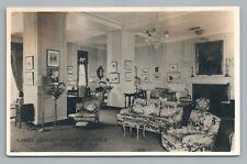 Ladies Lounge—Manoir Richelieu MURRARY BAY Quebec RPPC Antique Photo CPA Steamer
