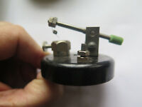 CRYSTAL RADIO CRYSTAL or GALENA HOLDER SWITCH in BAKELITE c1940s